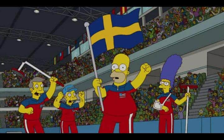 Homer Simpson Sweden Flag
